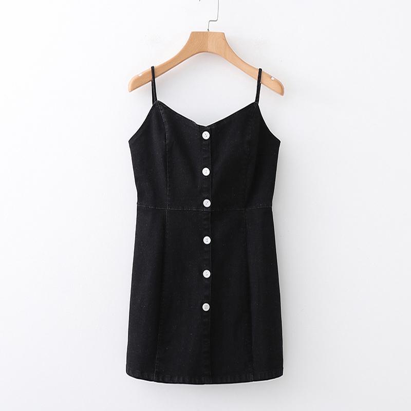 fd4d8f08fb5c2 2019 Dress Casual Clothing Women Fall Off Shoulder Dress Sexy Black Denim  Dress For Women From Lin_04, $45.41 | DHgate.Com
