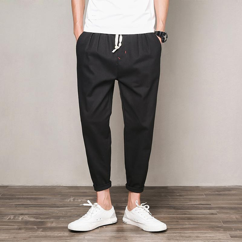 f8dab818a5e8 2019 Good Quality 2019 Brand Men'S Trousers Spring And Summer Pants For  Male Linen Nine Minute Pants Thin Trouser Casual Pants Trawers From Lusi01,  ...