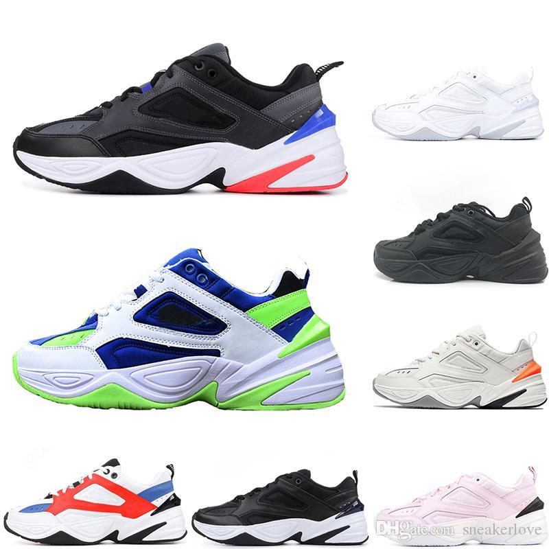 Mens Designer Shoes Monarch New M2K Tekno Dad Athletic Shoes Phantom Women  Sneakers Black Volt Female Fashion Trainers Size 36 44 Free Ship Ladies  Running ... 8d7cb906ea27