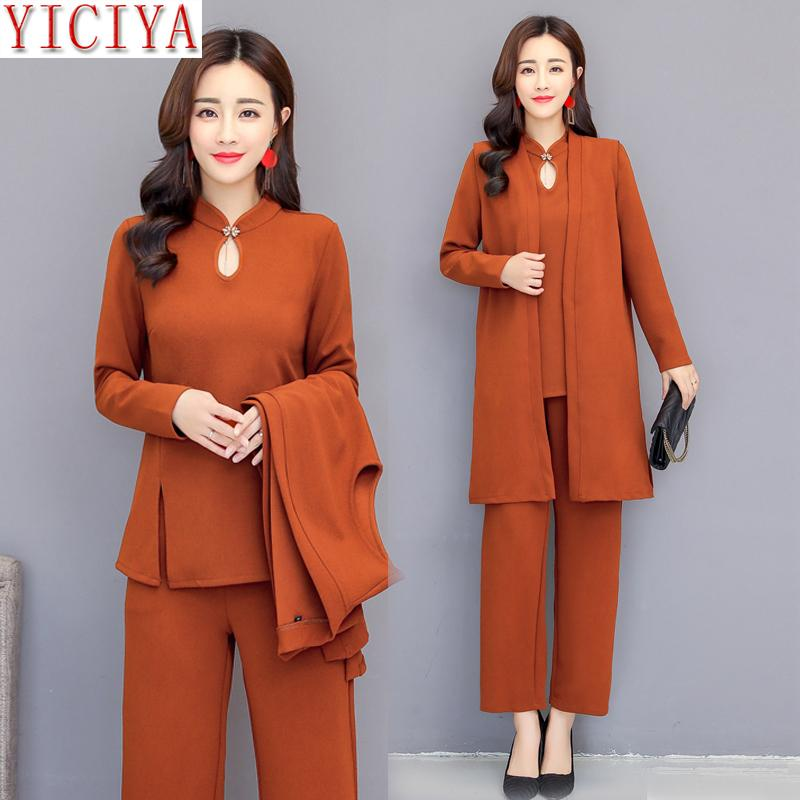 d2eb82fe2a50 2019 YICIYA Suit Women Outfits Co Ord Set Set Pants Suits And Top Winter  Autumn Clothes Elegant Plus Size 4xl 5xl From Ycqz2, $49.47 | DHgate.Com