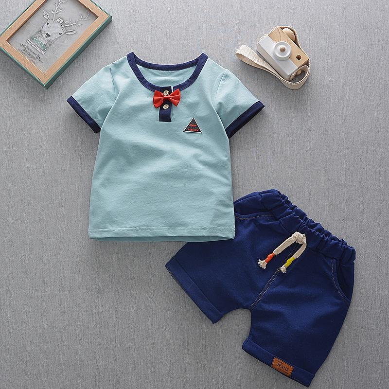 7239ea41b5 Compre Boa Qualidade Verão Bebê Moda Roupas Set Crianças Roupas Meninos Bebê  Camiseta + Shorts Ternos Meninos Treino De Lazer De Nextbest09