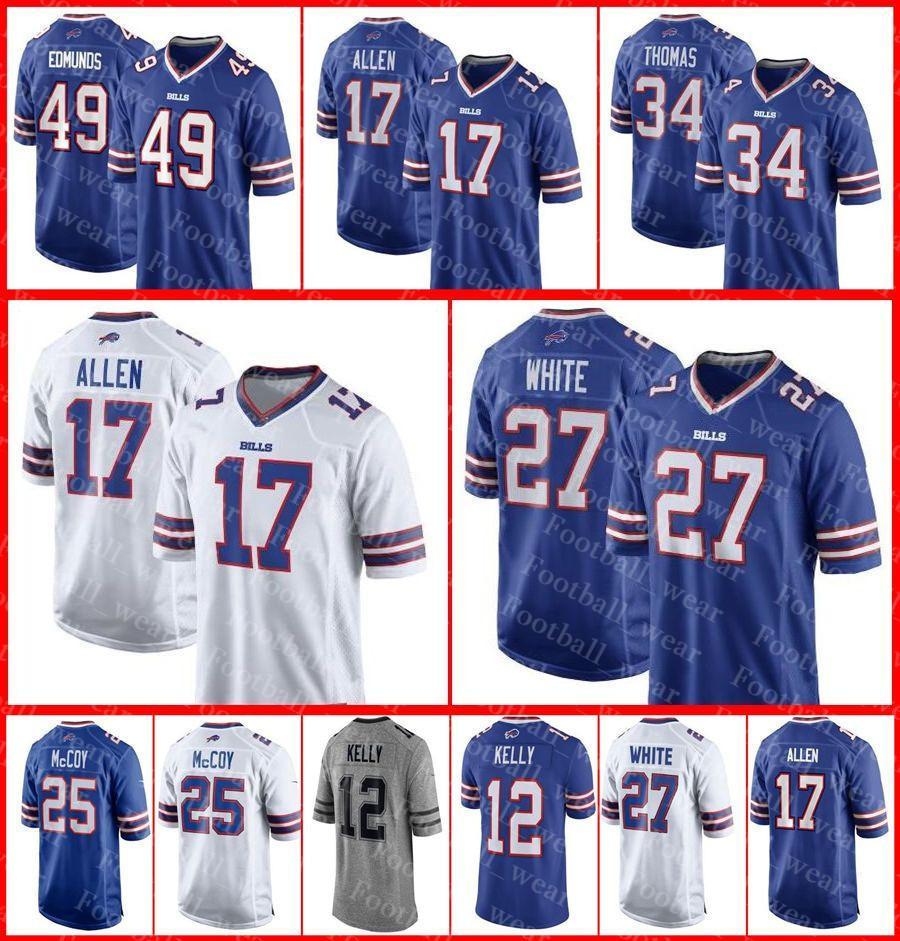 brand new a1ecd 191eb Bills Jersey Buffalo 23 Micah Hyde 55 Jerry Hughes 27 Tre Davious White 25  LeSean McCoy 16 Robert Foster 11 Zay Jones Football Jerseys