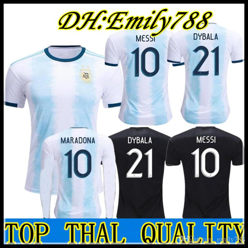 bed1038f8 2019 2019 Argentina Home Away Jersey MESSI DYBALA DI MARIA AGUERO HIGUAIN  19 20 Argentina Man Woman Copa America Soccer Football Jersey Kids From  Emily788