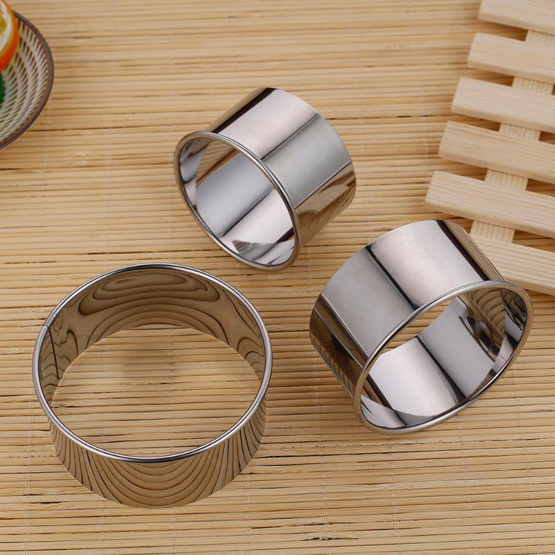 Stainless Steel Round Dumplings Wrappers Molds Set Cutter Maker Tools Round Cookie Pastry Wrapper Dough Cutting Tool