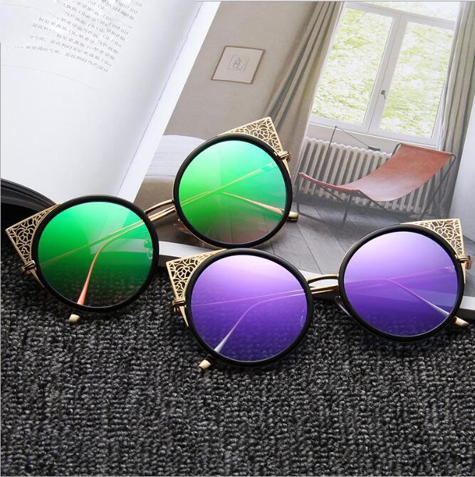 c6ba3c10045 2019 Latest Round Glass Sunglasses Women Girls Brand Design Cateyes Glasses  Colorful Sun Glasses Hot Sales Retro Sunglasses Baseball Sunglasses From  Mezumo