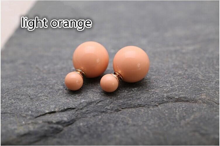 Prix usine Ventes 11 couleurs mode simulé perle de bonbons piercing boucles d'oreilles de mariage 2 tailles brincos perle