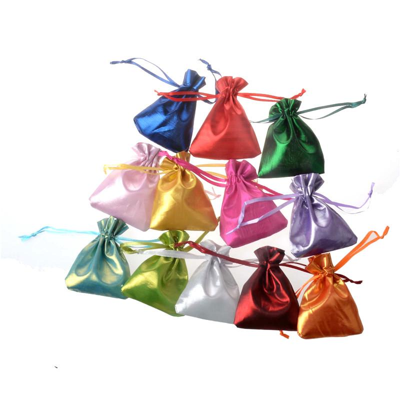 fbc89adb15bf Satin Mini Pouches Rings Necklace Small Jewelry Bags Colorful Wedding Party  Favor Gift Packaging Bags Drawstring bags 7x9cm
