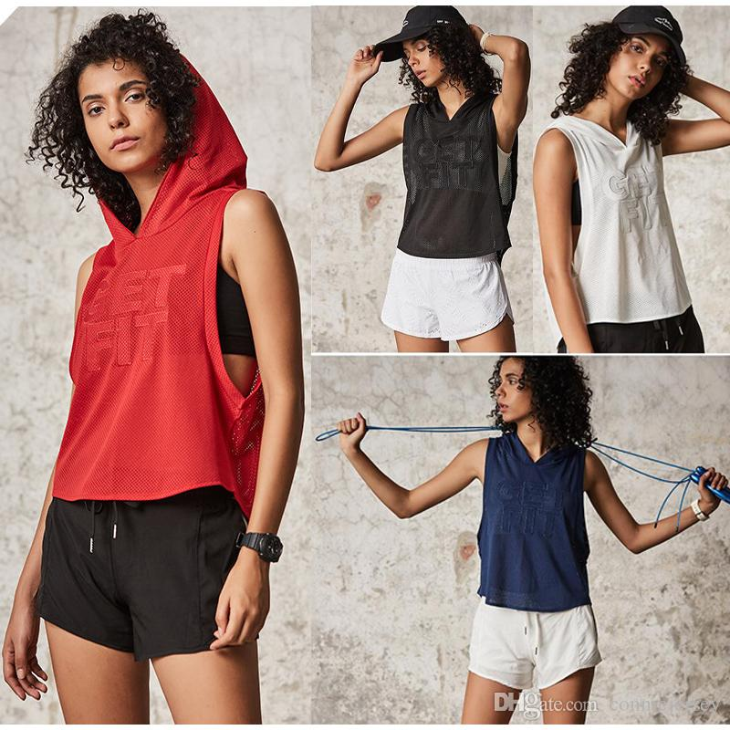 a152d8cd Women Outfits Yoga Tops Women S Clothing Mesh Hoodie Workout Fitness ...