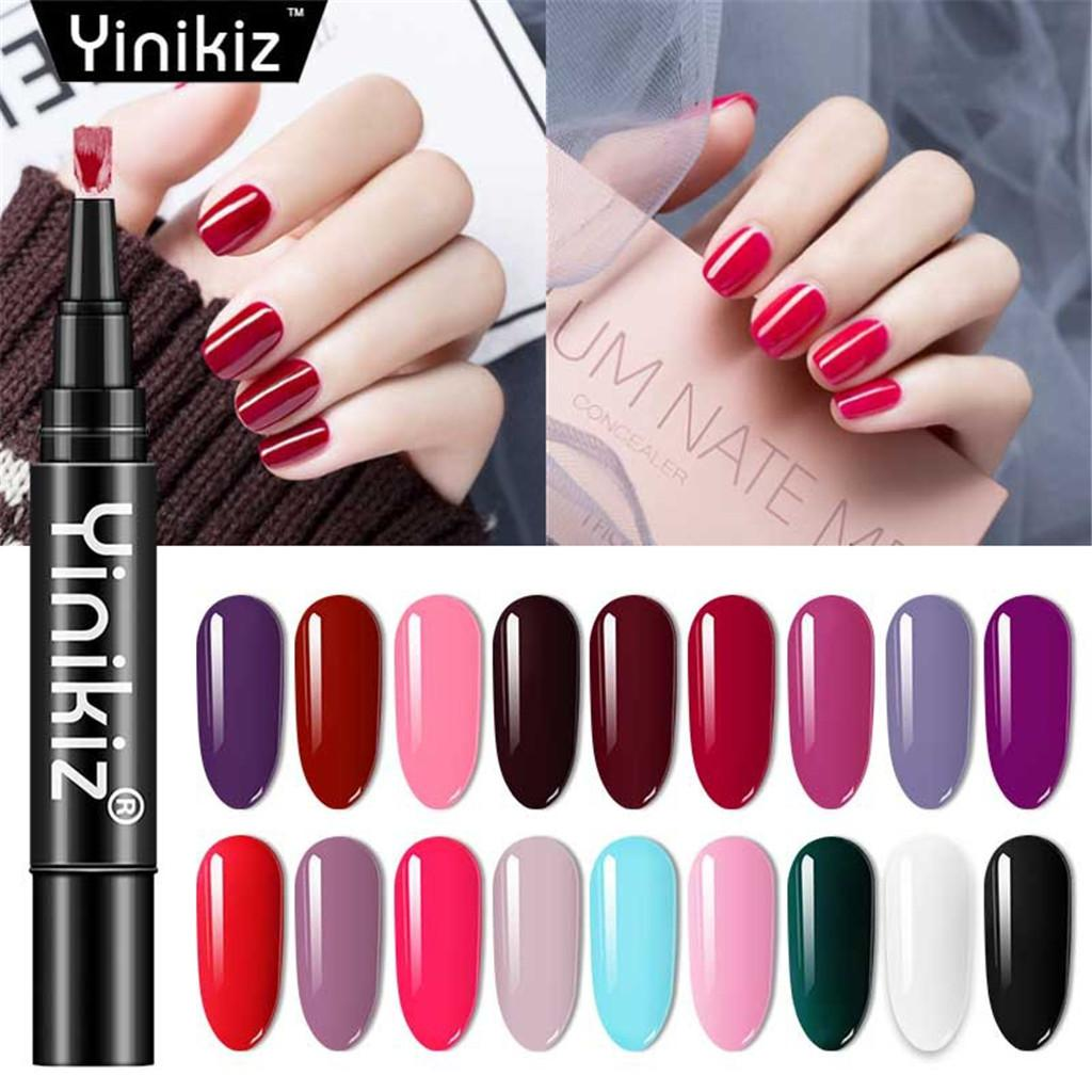 3 In 1 Gel Nail Varnish Pen Glitter One Step Nail Gel Polish Hybrid ...