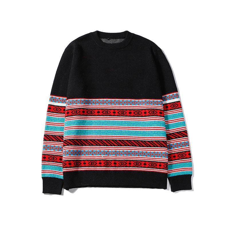 High Fashion Mens Womens Luxury Pullover Sweaters Designer Brand Contrast Stripe Crew Neck Long Sleeve Sweater Top Quality B100271V
