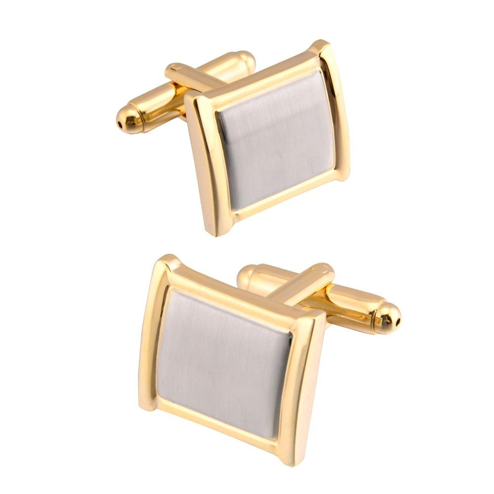 42232e2083c8 2019 QiQiWu Cufflinks For Mens Shirt Wedding High Quality Gold ...