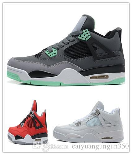 NIKE Air Jordan 4 Retro True 4 iv negro blanco hombres zapatos de baloncesto 4s deportes al aire libre zapatillas deportivas calidad superior con caja