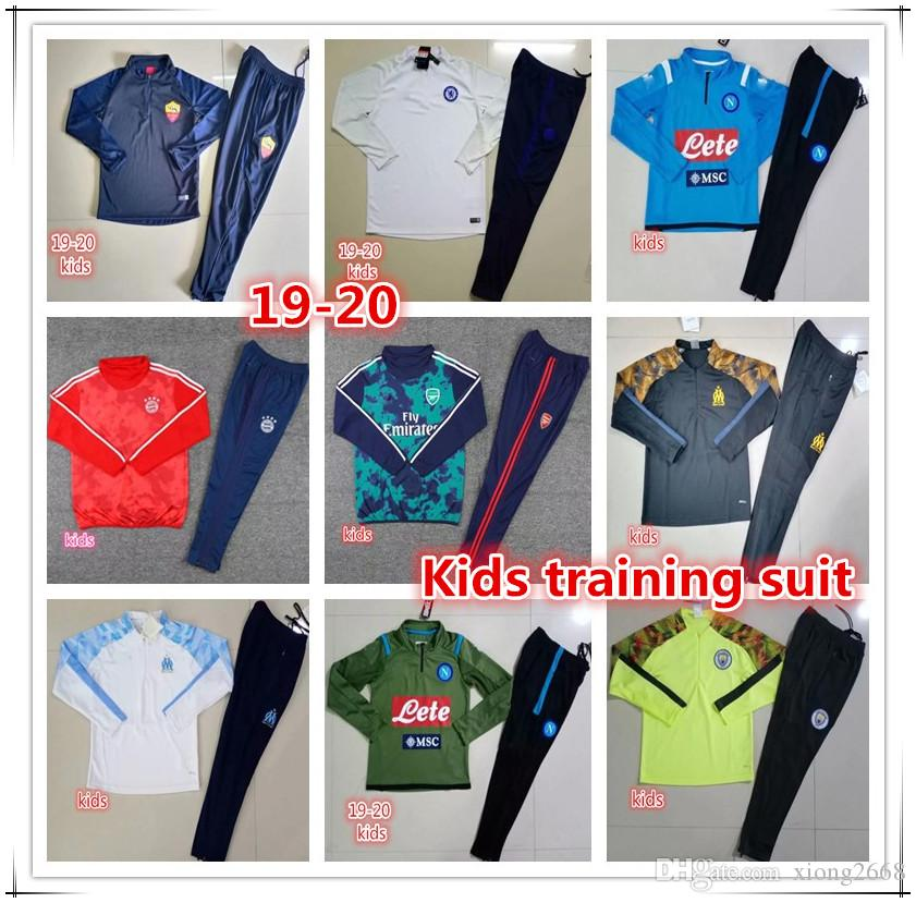 Bayern Munich napoli rome soccer tracksuit 2019 2020 roma KANTE WILLIAN LUKAKU LAUTARO Survêtement de football training suit jogging chandal