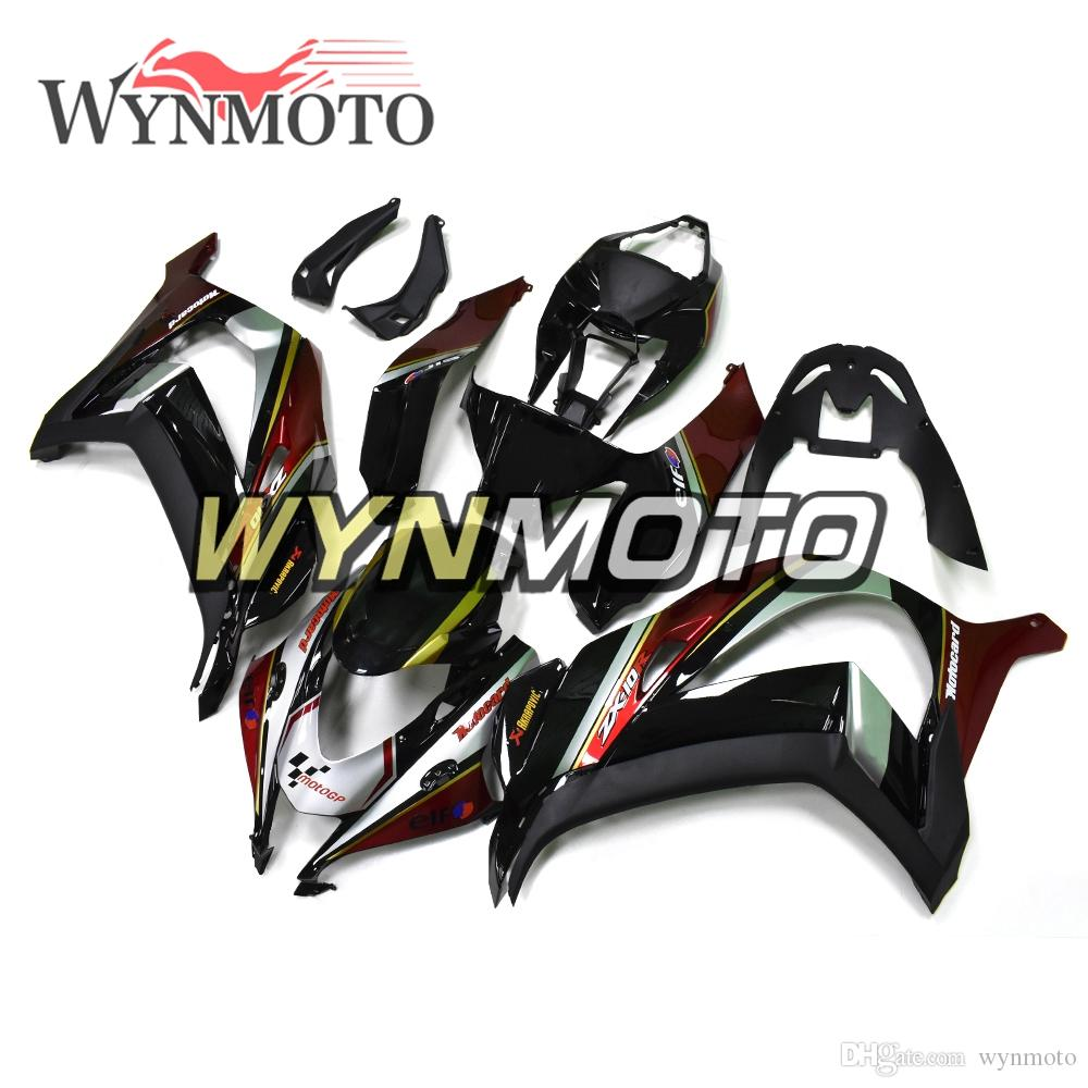 Black Red Gold Cowlings Injection Ninja Zx 10r 16 18 Full Fairings