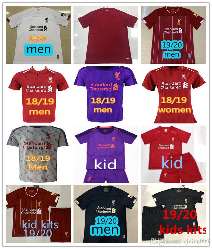 outlet store 2d8d1 d7f84 2019 New Liverpool soccer jersey FIRMINO VIRGIL 18/19 football shirt  camiseta man Women fútbol ROBERTSON camisa Kids Kits LALLANA maillot
