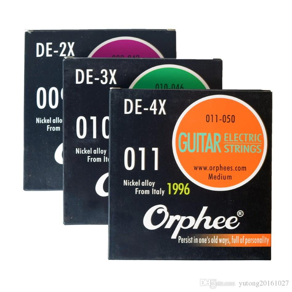 Orphee Professional DE Series 009-042, 010-046, 011-050, Electric Guitar  Strings Italy Nickel Alloy