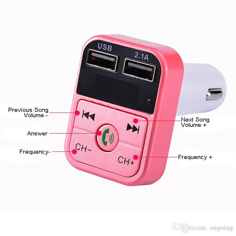 B2 Caricabatterie adattatore USB Bluetooth Lettore mp3 Radio Autoradio Kit FM Trasmettitore Bluetooth vivavoce auto Kit auricolare Bluetooth