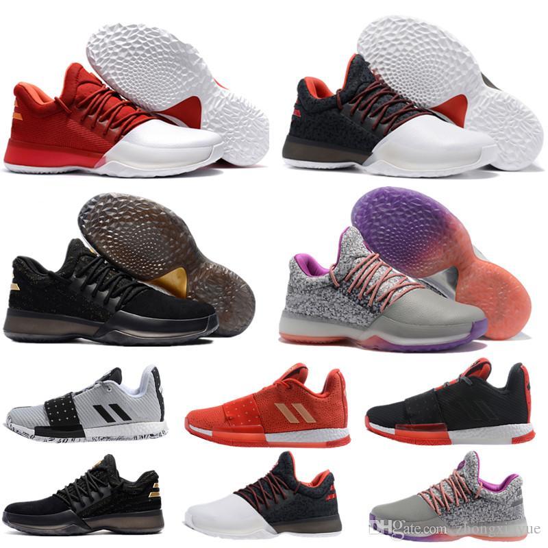 8cb686e7f9 Acheter Chaude 2019 Arrivée James Harden 3 Vol.2 Chaussures De Basketball  Hommes Rouge Noir Loup Gris Sport Basket Ball Baskets Formation Boost  Taille 40 46 ...