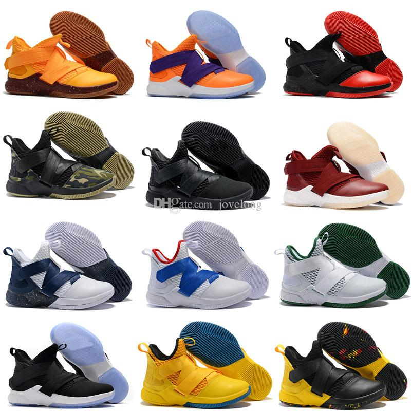 68b71ab677ae 2019 New High Quality Athletic Cheap Kids Shoes Black LeBron Soldier 12  Sneakers Youth Basketball Shoes Best Kids Running Shoe Walking Shoes From  Jovelong