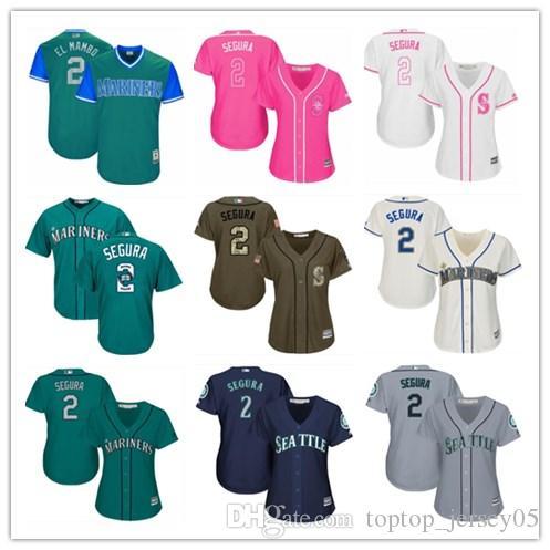 promo code 1482d 03ea2 2018 Seattle Mariners Jerseys #2 Jean Segura Jerseys men#WOMEN#YOUTH#Men s  Baseball Jersey Majestic Stitched Professional sportswear