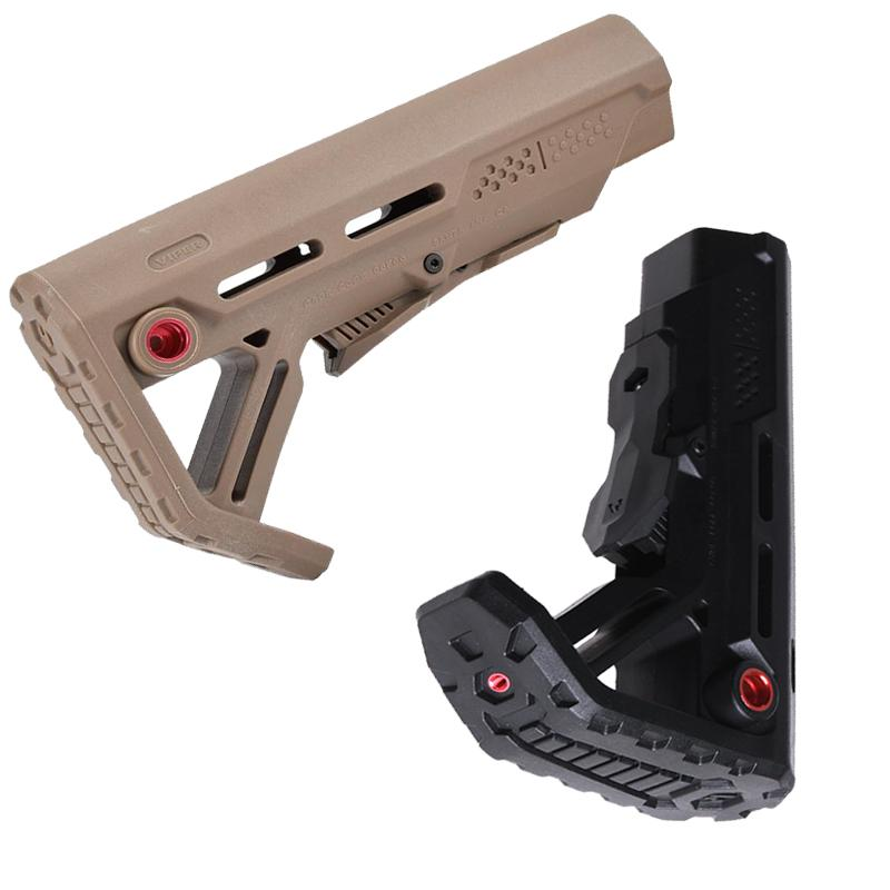 New drop-in replacement Stock Tactical Impact Resistant Buttstock For AR15/M16 Mil Spec Buffer Tube QD sling mounting Toys