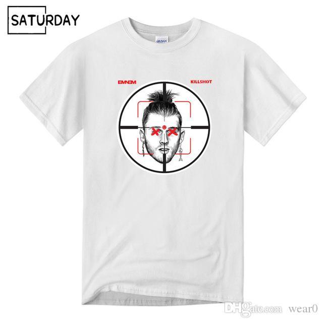 0451ca3b 2019 Womens Luxury Designer T Shirts Hot Men Eminem Diss Mgk Killshot  Cotton Black T Shirts Women Hip Hop Swag Funny T Shirts Unisex Funniest T  Shirts Mens ...