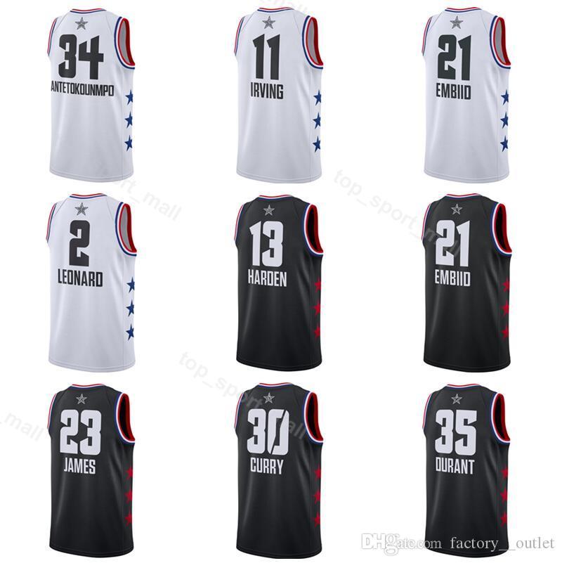 2019 All-Star Jersey Basketball LeBron 23 James Kyrie 11 Irving ... e0d99402d