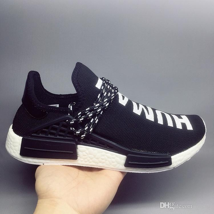 buy popular e931b d6182 NMD Pharrell X Human Race Runner Designer sneakers mens casual sports shoes  luxury shoes womens running shoes high quality Runner36-47