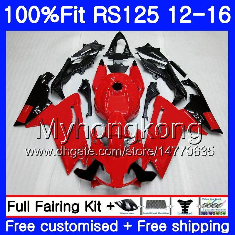 Injection OEM For Aprilia RS-125 RS125RR RS4 2012 2013 2014 2015 2016 315HM.30 RSV125 RS 125 RS125 12 13 14 15 16 Fairing kit top Glossy red