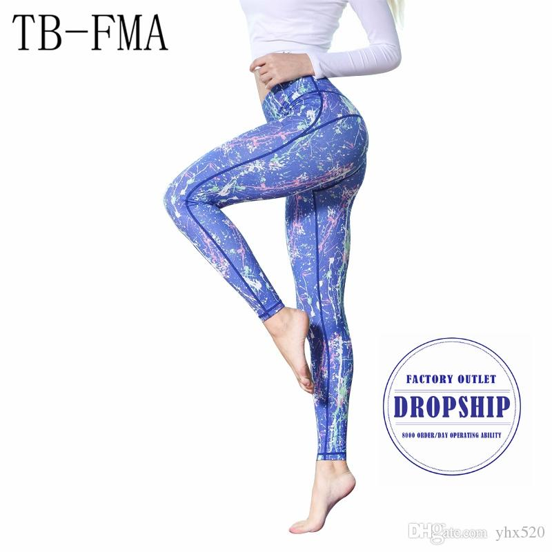 a9fa9ff1f92aa 2019 Women Printed Yoga Pants Elastic Stretch Sport Legging Fitness Gym  Pants Workout Running Tight Sport Leggings Female Trousers #844262 From  Yhx520, ...