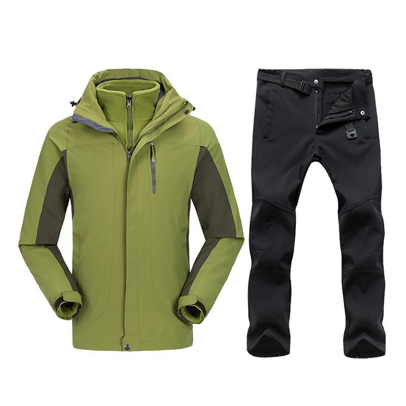 8e52bd9b01 Plus Size Men Skiing Ski-wear Waterproof Hiking Outdoor Jacket ...