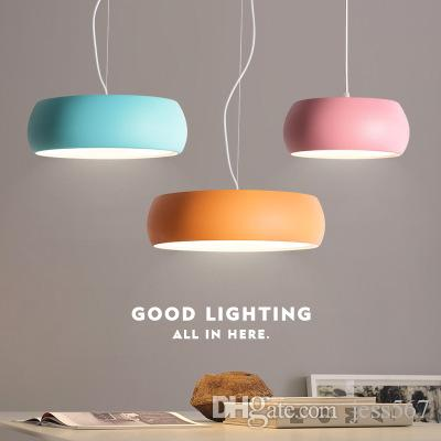 Nordic Macaroons Multicolor Pendant Light Creative Light Lovely Designer Light For Kids Room Free Shipping 110v`260v
