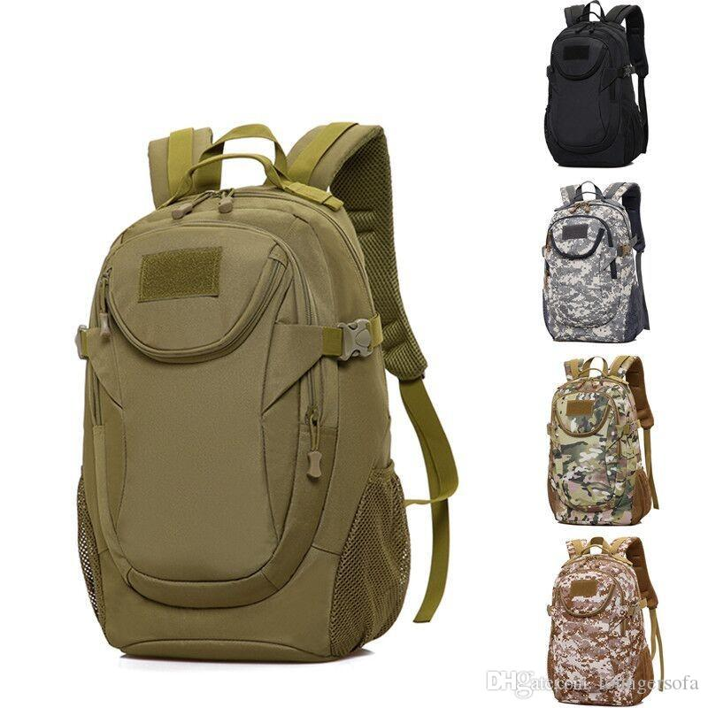 Male Mountaineering Backpack Outdoor Motion Camouflage Double Shoulder Bag Tactical Travel Nylon Material Camping Back Pack Green 55jc C1