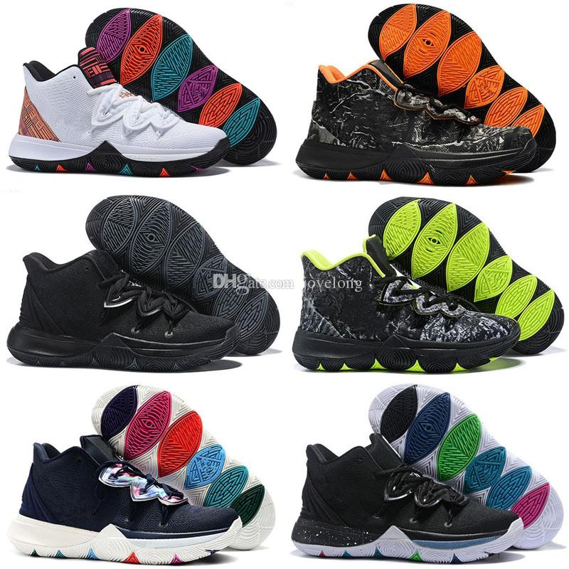 outlet store 0dd05 22a1a 2019 New Kyrie 5 Men Kids Basketball Shoes for Cheap Sale Irving 5s Black  White University Red Bruce Lee Sneakers Sports Trainers