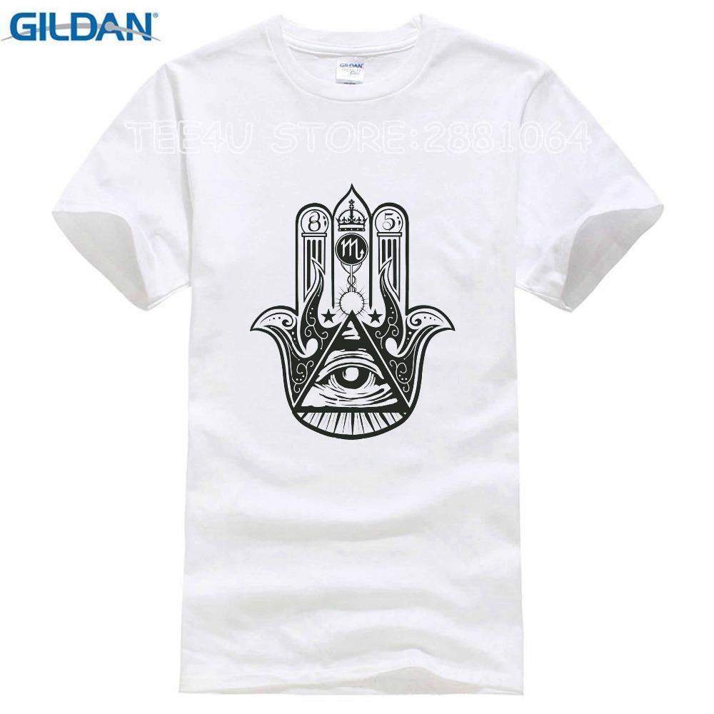 Compre Tee4U Adulto 100% Algodón Camisetas Personalizadas Cuello Redondo  Camiseta De Manga Corta Para Hombre Camiseta Illuminati A  12.94 Del Jie038  ... e68915b7254