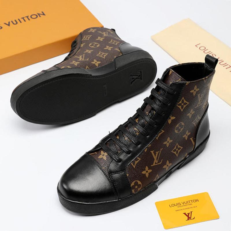 cf40c6a35 Compre Homens Sapatos Botas Casuais Alta Top De Alta Qualidade Chaussures  Pour Hommes 2019 Sapatos Da Moda Para Os Homens Ankle Boots Offshore  Sneaker Bota ...