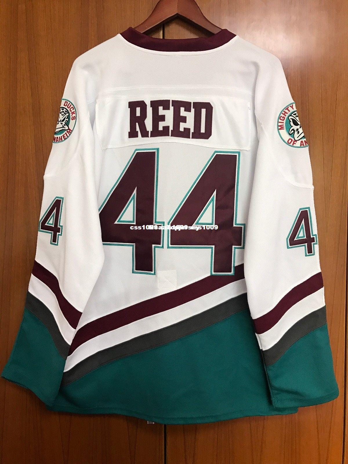 2019 Cheap Custom Mighty Ducks Movie Jersey  44 Fulton Reed Hockey Jersey  White Stitched Customize Any Number Name MEN WOMEN YOUTH XS 6XL From  Ncaatopjersey ... 32148c5b242