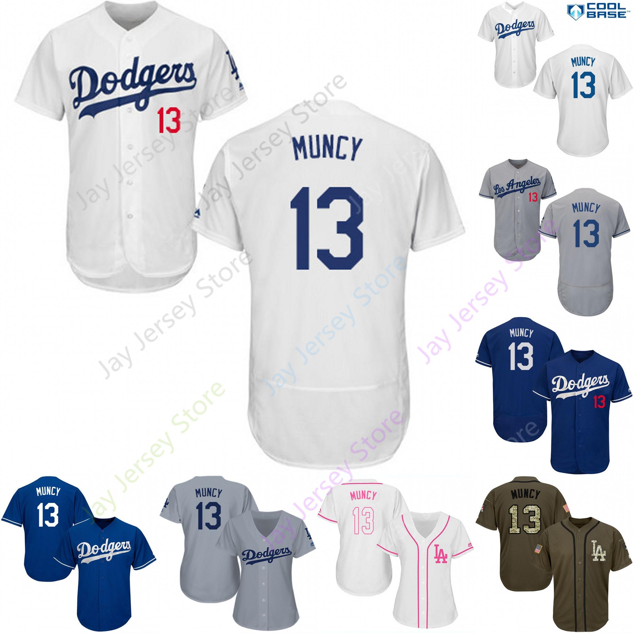 save off 80dc3 7b7b8 Custom Los Angeles 13 Max Muncy Jersey Dodgers Jerseys Cool Base Flexbase  White Black Red Grey Home Away Men Women Youth Cheap All Stitched