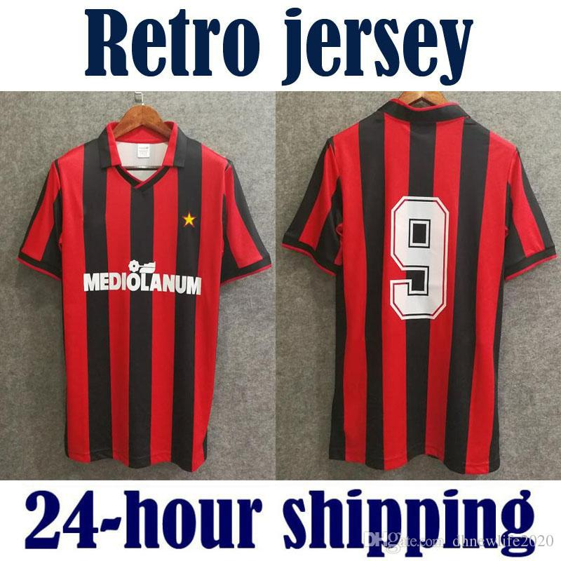 1e92ea99b36 2019 Retro Version Classic Vintage 06 07 08 AC 1991 1992 Soccer Jersey Home  91 92 Milan 2006 2007 2008 KAKA RONALDO PIRLO SHEVCHENKO From  Dhnewlife2020