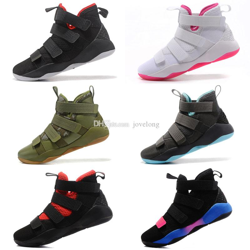 watch 8cf12 1d9ac What the Lebron soldier 11 XI shoes mens basketball for sale Christmas BHM  Oreo youth kids sneakers
