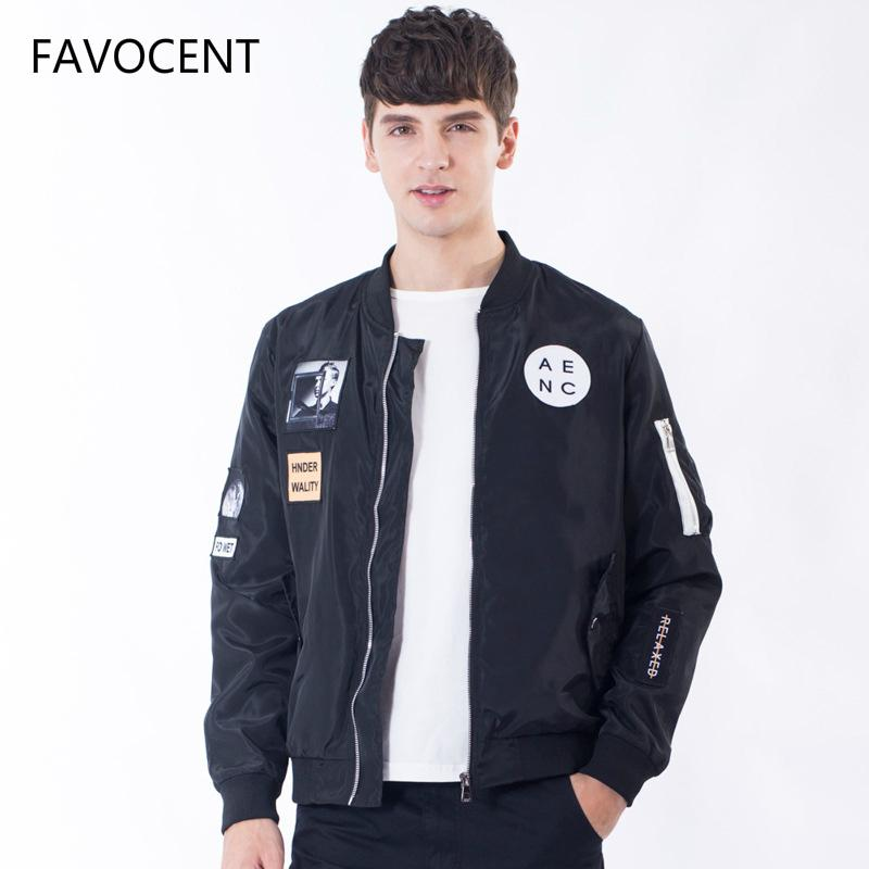 4c1cc4657e78a FAVOCENT Fashion Men Bomber Jacket Hip Hop Patch Designs Slim Fit Pilot  Bomber Jacket Coat Men Jackets Plus Size 4XL Cool Mens Coats Jacket And Coat  From ...