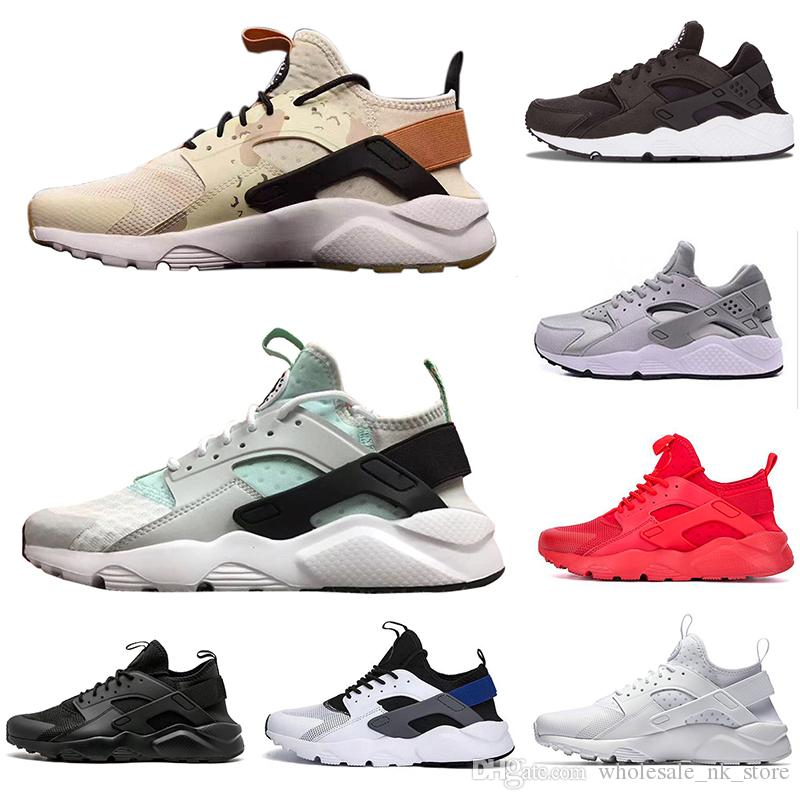 a2d02bcfd0c9 New Arrival Khaki Mint Green Huarache 4.0 1.0 Triple White Black Red Men  Women Casual Shoes Huaraches Trainers Sports Sneakers 36 45 Mens Casual  Shoes ...