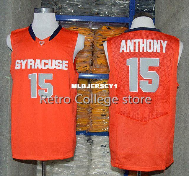15 Carmelo Anthony Syracuse Orange College Top Jersey Retro Top Jersey New  Material Top Quality Embroidery Jersey Vest Jerseys Baseball Cheap  Basketball ... b6bd4ff61