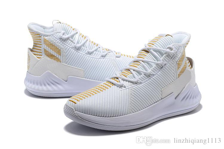 399a26f2770 D Rose 9 White Gold Shoes For Sales New Derrick Rose 9 Basketball ...