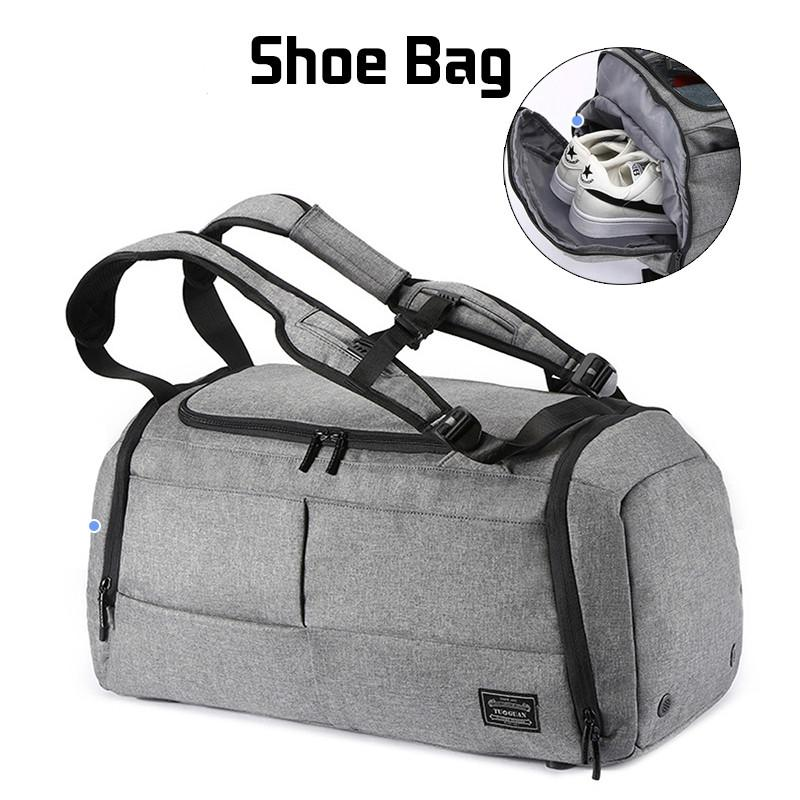 dd765a3c8fa6 2019 Wholesale Multifunctional Travel Bag Organizer Trolley Duffle Bag  Carry On Luggage Weekend Bag For Men Large Capacity Backpack Laptop Bags  For Women ...
