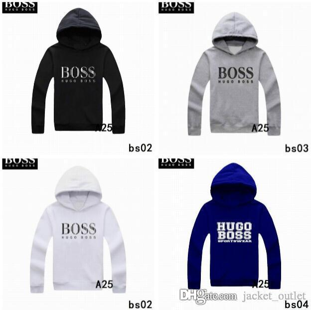 49be750d6 New Fashion Winter Hooded Men Bosses Sweatshirts Brand Designer ...