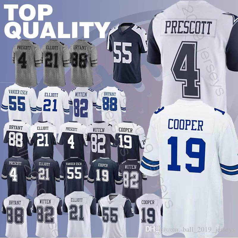 detailing 20fe2 03c35 Cowboys jerseys 19 Amari Cooper Leighton 55 Vander Esch Dez 88 Bryant Jason  82 Witte Rugby jerseys