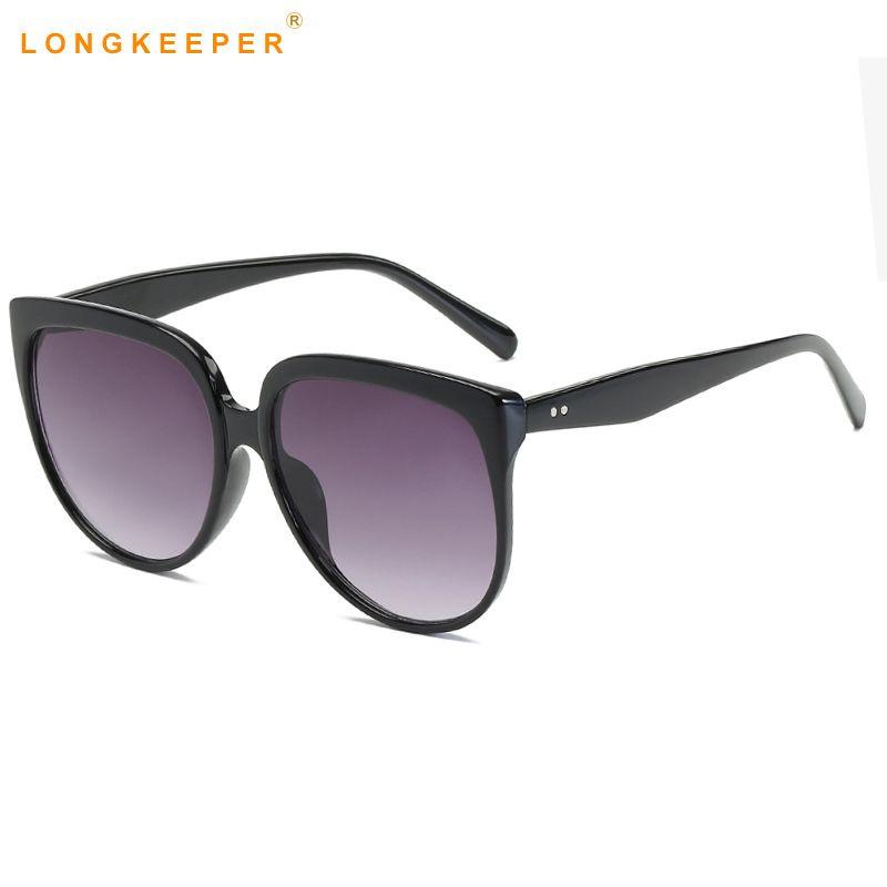 1d96dc56a320f Oversized Sunglasses Women Brand Designer CatEye Retro Black Sunglass  Mirror Sun Glasses Female Zonnebril Dames Eyewear Gafas Sunglasses  Eyeglasses From ...