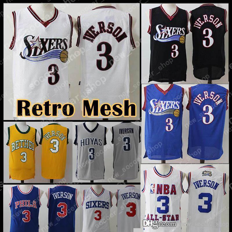 1aa853377625 2019 2019 New 76ers Philadelphia Allen 3 Iverson Jersey Julius 6 Erving  Markelle 20 Fultz Mesh Retro Men Basketball Jerseys From New soccer shop