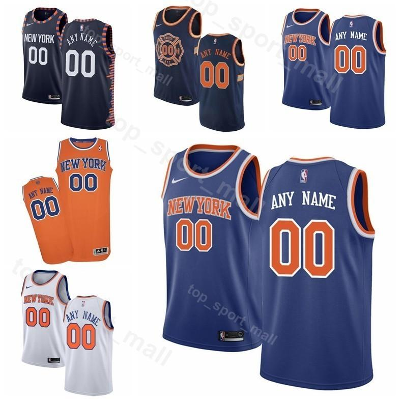 the best attitude 305a8 84f2b Printed Man Kids Woman New York Basketball Knicks Allonzo Trier Jersey 14 0  Kadeem Allen 5 Dennis Smith Jr. 1 Emmanuel Mudiay Kevin Knox